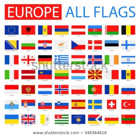 Szett zászlók Európa zászló Anglia szalag Stock fotó © butenkow