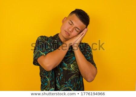 Moe indian man grijs mensen Stockfoto © dolgachov
