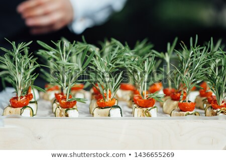 Catering diensten snacks tabel outdoor bruiloft Stockfoto © ruslanshramko