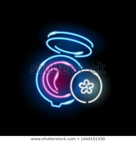 Zwarty proszek neon kosmetyki promocji dziewczyna Zdjęcia stock © Anna_leni