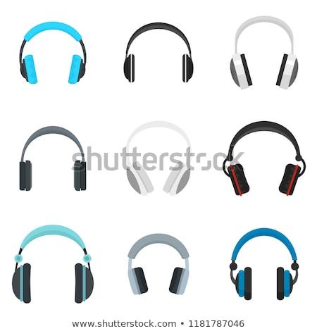 Cor escuta música dispositivo sem fio fones de ouvido Foto stock © pikepicture