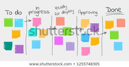 Kanban board concept vector illustration Stock photo © RAStudio