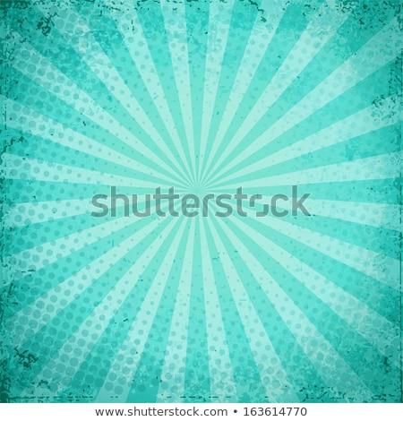 ターコイズ ハーフトーン 空っぽ ヴィンテージ パターン 開く ストックフォト © SArts