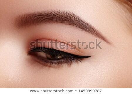 Piękna makro shot kobiet oka twórczej Zdjęcia stock © serdechny