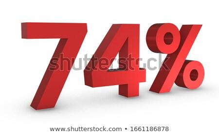 Quatre pour cent blanche isolé 3D 3d illustration Photo stock © ISerg