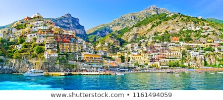 村 表示 海岸 イタリア ビーチ 市 ストックフォト © Alex9500