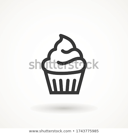 Muffin Icon on a Pink Background Vector Illustration Stock photo © cidepix