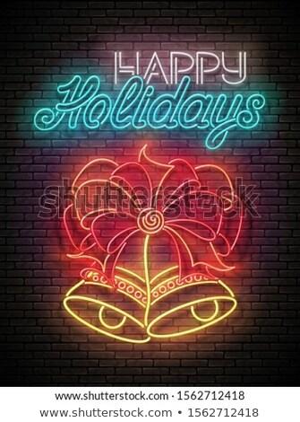 Brilho cartão dois natal arco Foto stock © lissantee