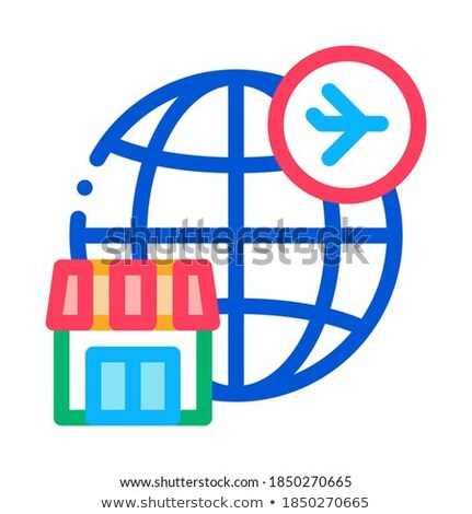 duty free all over world icon vector outline illustration Stock photo © pikepicture