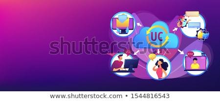 Unified communication concept banner header Stock photo © RAStudio