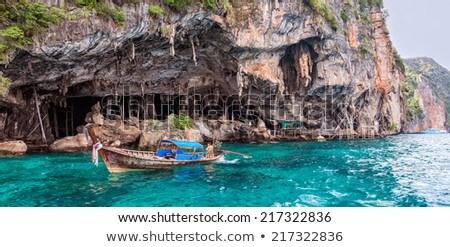 Viking cave on Maya island Stock photo © bloodua