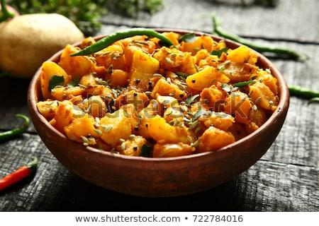 пряный карри картофель лист листьев Сток-фото © zkruger