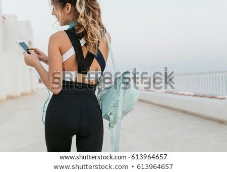 back of sportwoman Stock photo © ssuaphoto