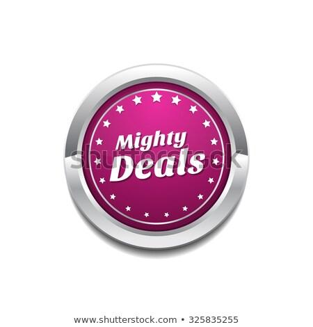 могущественный розовый вектора кнопки икона Сток-фото © rizwanali3d