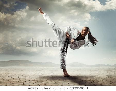 フィット 女性 武術 白 フィットネス 健康 ストックフォト © wavebreak_media