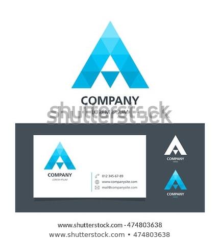 ロゴ 手紙 シンボル 黒 青 アイコン ストックフォト © blaskorizov