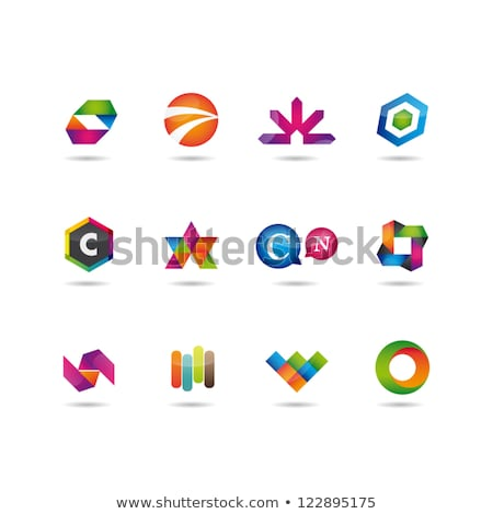 Negócio logotipo abstrato colorido símbolo Foto stock © blaskorizov