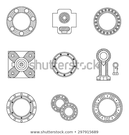 roller bearing vector icon symbol Stock photo © blaskorizov