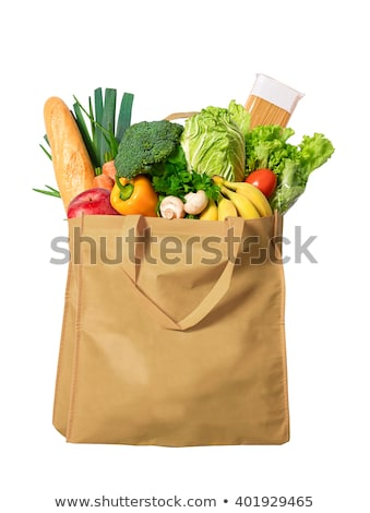 Friends with shopping bags isolated on white Stock photo © Elnur