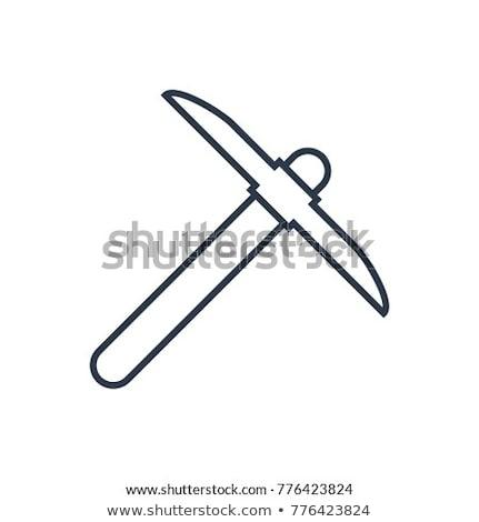 Kürek ikon vektör örnek imzalamak Stok fotoğraf © pikepicture
