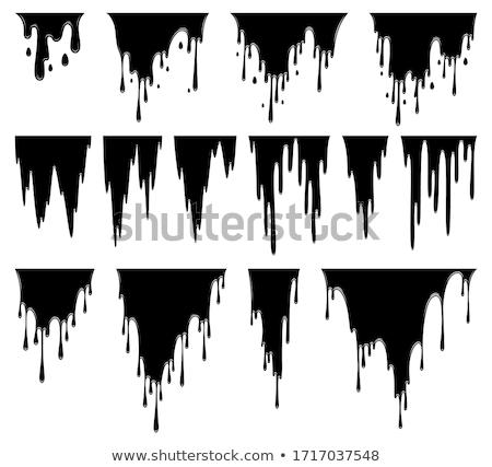 Líquido pintura petróleo mancha blanco tinta Foto stock © designer_things