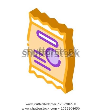 Merítőkanál fehérje sport izometrikus ikon vektor Stock fotó © pikepicture