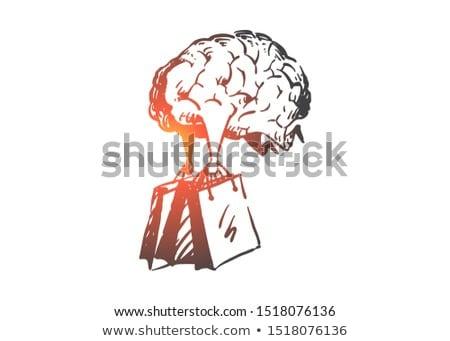 Vásárlás függőség vektor metafora mobil nagy Stock fotó © RAStudio