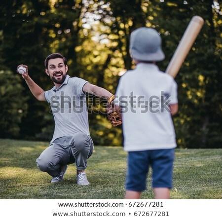 かわいい · 少年 · 演奏 · 野球 · 公園 - ストックフォト © wavebreak_media