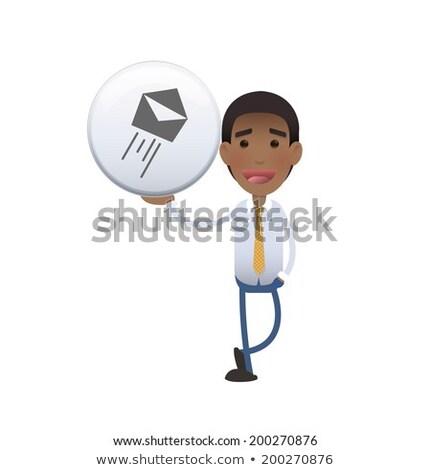 Jóvenes hombre de negocios símbolo aislado blanco Foto stock © gigra