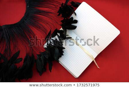 An empty template with plants and a ballpen Stock photo © bluering