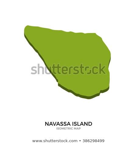 Isométrica mapa ilha detalhado isolado 3D Foto stock © tkacchuk