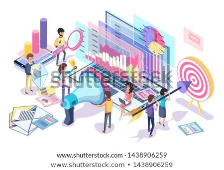 vector · portátil · crecimiento · gráfico · de · barras · negocios - foto stock © robuart