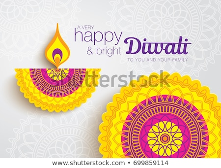 artistic diwali festival background design Stock photo © SArts