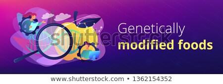 Genetically modified foods concept banner header. Stock photo © RAStudio