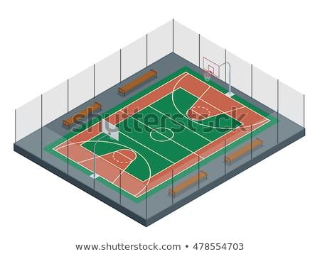 Isometrische basketbal rechter illustratie gebouw Stockfoto © artisticco