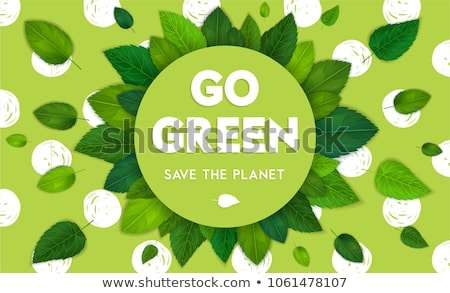 Ecology theme Happy Earth Day flyer template with lettering. Save the nature, be green. Poster, card Stock photo © ikopylov