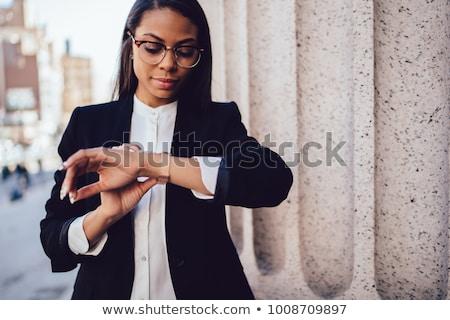 Kobieta model ulic dumny elegancki elegancki Zdjęcia stock © ElenaBatkova
