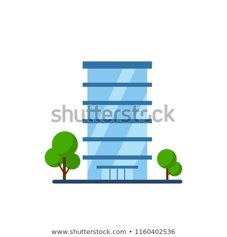 Vektör modern bina cam beton renkli örnek Stok fotoğraf © karetniy