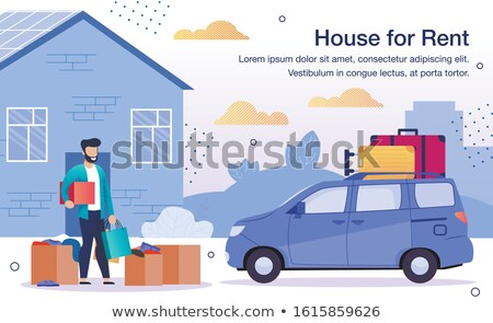 Moving House Service Advertising Banner Vector Illustration Stock photo © pikepicture