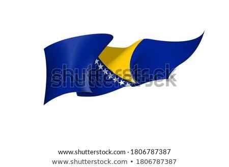 Bosnia Erzegovina bandiera bianco abstract panorama design Foto d'archivio © butenkow