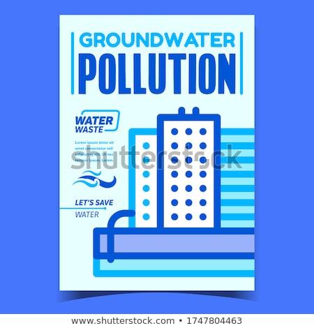 Inquinamento poster vettore industriali fabbrica Foto d'archivio © pikepicture