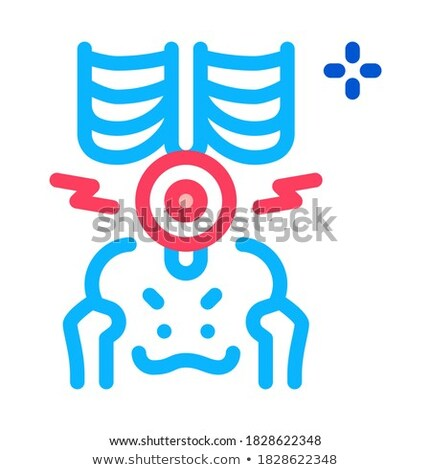 back lumbar arthritis icon vector outline illustration Stock photo © pikepicture