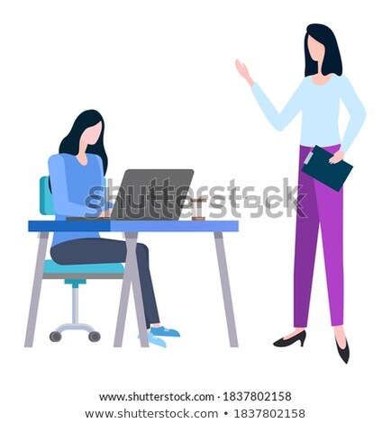 Brokers Discussing Trades Sales Isolated. Vector Stock photo © robuart