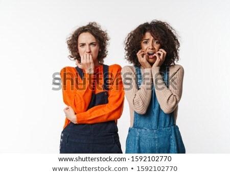 Portret bange multinationaal vrouwen poseren naar Stockfoto © deandrobot