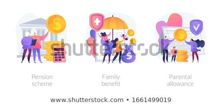 Finansowych korzyść wektora metafora biznesmen Zdjęcia stock © RAStudio