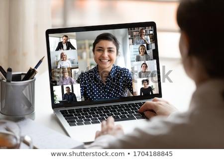 Notebook asztali számítógép képernyő iroda munka terv Stock fotó © experimental