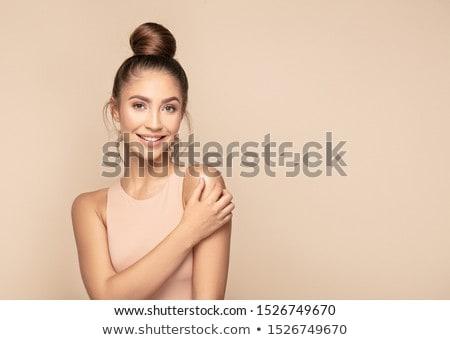 poz · ayartma · dikey · portre · seksi · kız · adam - stok fotoğraf © fotoduki