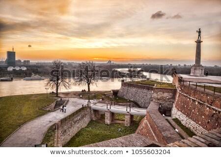 Szobor győzelem győztes erőd Belgrád királyság Stock fotó © joyr