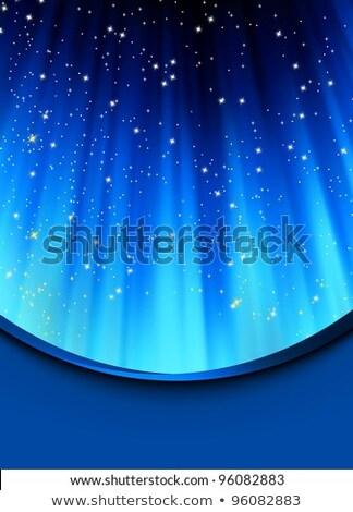雪 · 星 · 青 · eps · パス · 光 - ストックフォト © beholdereye