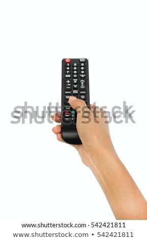 Closeup of a woman with a remote control Stock photo © photography33